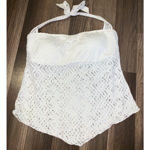 White Lace Tankini Top